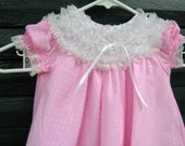 Pink Frilly Baby Dress 9 To 12 Months