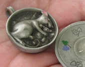 Mouse In A Teacup, Pewter