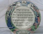French Nursery Rhyme Plate