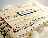 Vintage Sheet Music Wedding Photo Album - Customized for Free