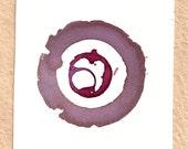 Blend Number 67 - Coffee, Wine & Tea - Original OOAK Watercolor Painting, Framed