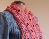 Open knit linen scarf