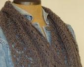 Warm Lace Wool Scarf