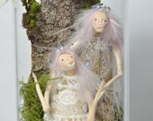 Mother and Daughter - Lady of the Moon - Woodland Spirit - Nigrica Miniatures sculpt hand made by Johana Molina