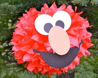 Elmo Inspired Party Pom