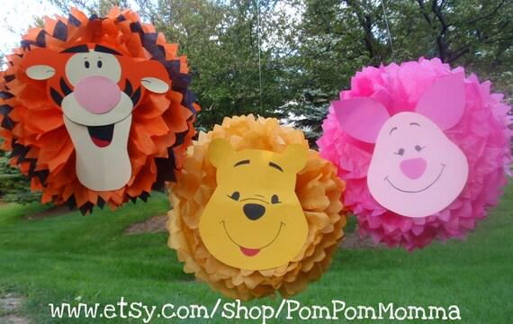 Winnie the Pooh Inspired Pom Poms