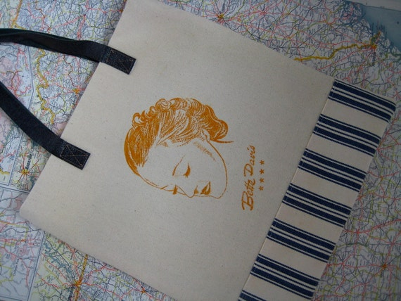 Classic Hollywood movie star tote -- Bette Davis