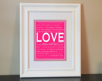 Children/Nursery/Home Art- LOVE- Printable