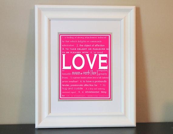 Children/Nursery/Home Art- LOVE- Printable or Shipped