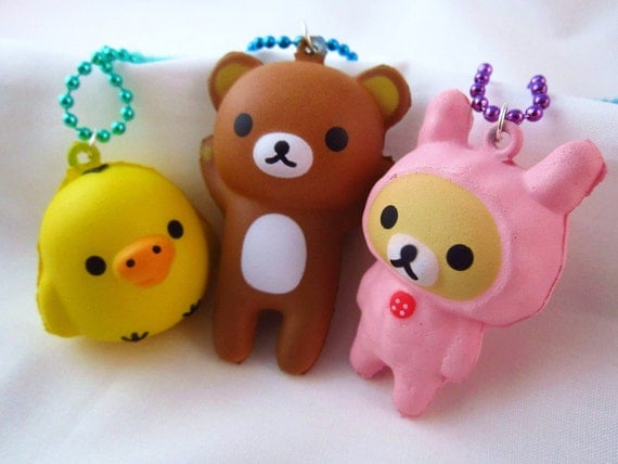 Best Friends Rilakkuma Korilakkuma Kiiroitori Kawaii BFF Squishy Necklace Set - ERROR