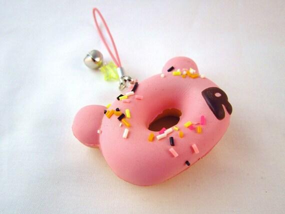 Squishy Pink Donut : Kawaii Pink Rilakkuma Donut Squishy
