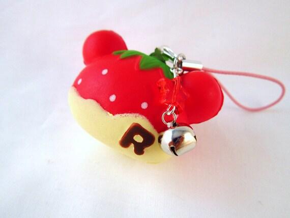 Squishy Keychain : Kawaii Rilakkuma Strawberry Squishy Keychain Charm by DoodieBear