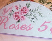 Reserved For Shari,,,,, Rose Wall Sign, Hand Painted, Wall Hanging, Roses, Shabby Chic,