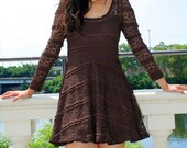 Lacy Mini Brownie Lace Frock S M L