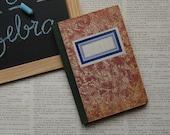 vintage - OLD LEDGER BOOK - hard cover - lined pages - blank (nr.01)