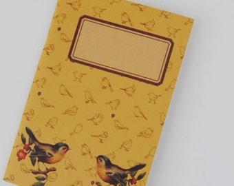 """original - limited edition - notebook - sketchbook - VINTAGE DESIGN (""""birds on a branch"""")"""
