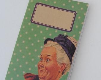"""original - limited edition - notebook - sketchbook - VINTAGE DESIGN (""""granny"""")"""