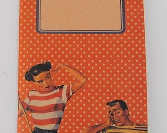 """original - limited edition - notebook - sketchbook - VINTAGE DESIGN (""""sweethearts"""")"""