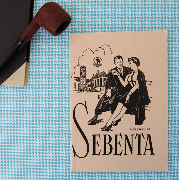 """vintage - OLDSCHOOL NOTEBOOKS - blank - unlined pages (un-used) (""""coimbra"""")"""