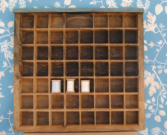 RESERVED for TANIA WILDMAN: vintage letterpress printers drawers/tray - small (k03)