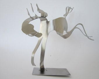 Buckin' Horse -  Miniature Stainless Steel Sculpture