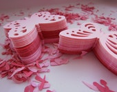 120,pinks, Paper, Butterflies, scrap booking, card making, by DoodleDee2 on etsy
