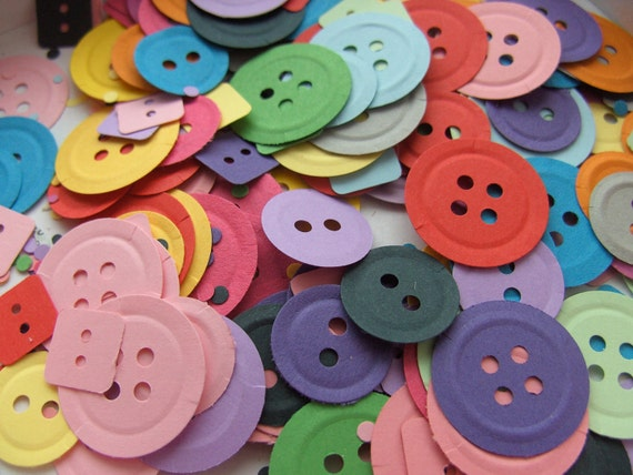 200,Paper, Buttons, card, carnival mix, Confetti, rainbow, scrap booking, card making, party bag, wedding, by DoodleDee2