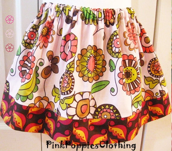 SALE Size 3T Ready to ship out today--Skirt - Posies Skirt