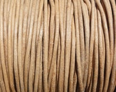 1mm Natural Leather Cord Round Undyed - 1.0mm - 2 Yard Increments