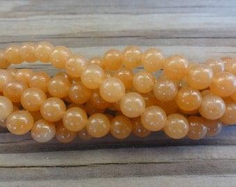 Red Aventurine Round Stone 6mm Beads Full 16 inch Strand