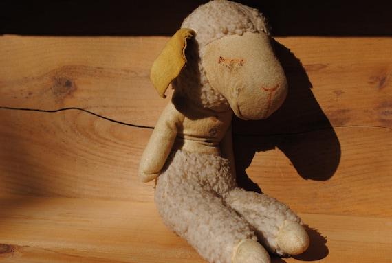 Once Cherished Stuffed Lamb Chop and Lamb Chop Puppet