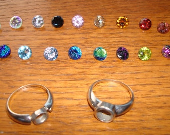 Sterling Silver Interchangeable Stone Ring - 20 Stones - 20 Looks in one - Size 9