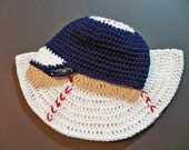 Crocheted baby baseball hat and Baseball Shaped Cape  Photo Prop  Any Team Any Team Color