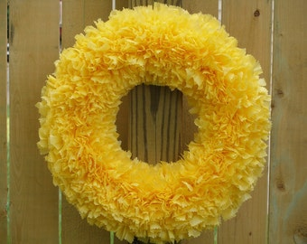 Thanksgiving Wreath - Fall Wreath - Yellow Wreath - Indoor Outdoor Wreath - Door Wreath - Outdoor Wreath - Autumn Wreath - Fall Wreath