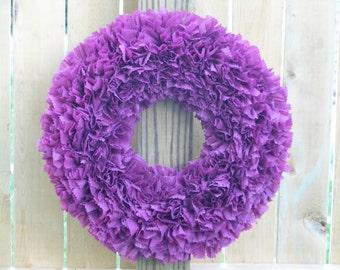 Spring Wreath - Easter Wreath - Purple Wreath - Orchid Wreath - Indoor Outdoor Wreath - Door Wreath - Outdoor Wreath - Summer Wreath