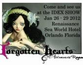 Custom BJD Porcelain Forgotten Hearts Ball Jointed Doll
