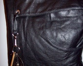 Black Leather Bag Crossbody recycled leather