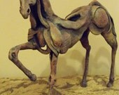 Horse sculpture made of polymer clay