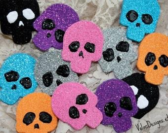 Rave wear Skull pasties -Halloween glitter