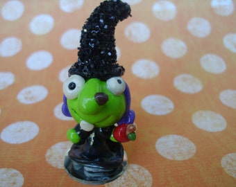 Witch Monster Polymer Clay Doll Horror Sci Fi Figurine Miniature ooak