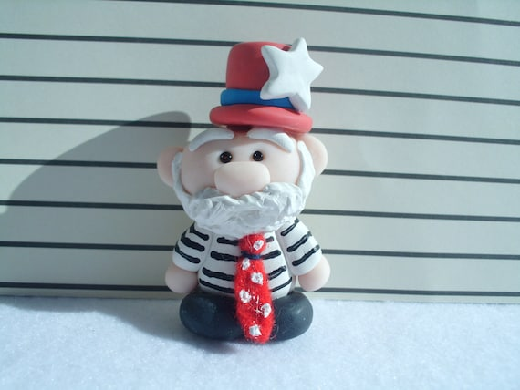 Bob the Jail Bird: March on Wall Street Polymer Clay Art Doll Criminal Inmate Miniature Ooak
