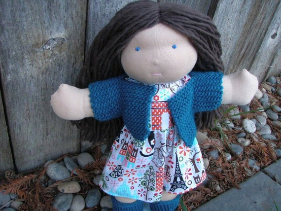 "Custom listing for Candyce- Waldorf All Natural Wool Doll- Custom 12"" Little River Doll"