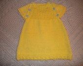 Hand knitted 100% cotton toddler dress