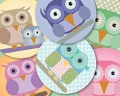 Digital OWL 1.313 inch circles pastel