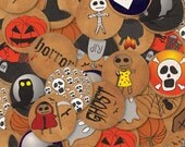 Digital HALLOWEEN 1.313 inch circles-instant download
