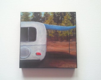 Travel Trailer Wood Block - Bastrop