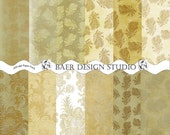 Tan and Taupe DAMASK DIGITAL Scrapbooking PAPER-Digital Collage Sheet- Embossed Soft Floral -wedding, photo cards, Thanksgiving