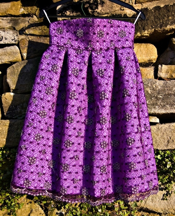 SALE 60% off Purple lace skirt.