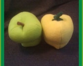 Half-dz of Bell Peppers, your choice of colors - hand made plushies play food.