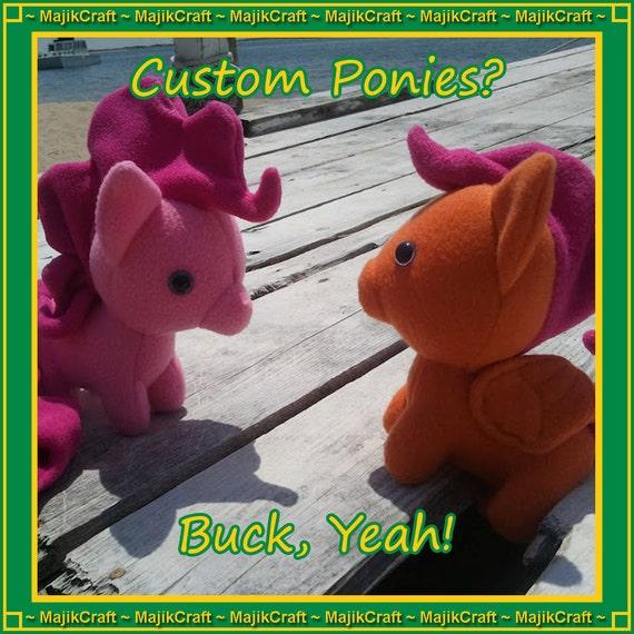 CUSTOM Pegasus Pony PLUSH - My Little Pony: Friendship is Magic